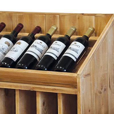 Meuble présentoir bouteilles de vin
