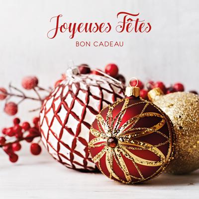 Bon cadeau boules de Noël