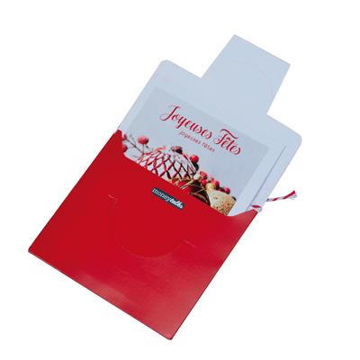 Cartes cadeaux + enveloppes Joyeuses Fêtes