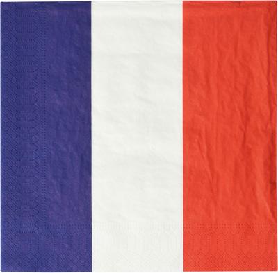 Serviettes ouate Drapeau France