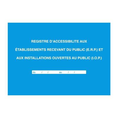 Registre d'accessibilité aux ERP et IOP