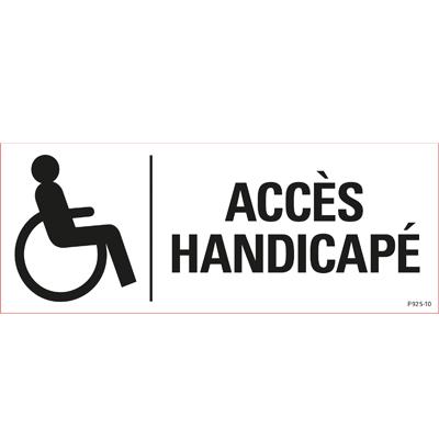 Pictogramme adhésif Accès handicapé