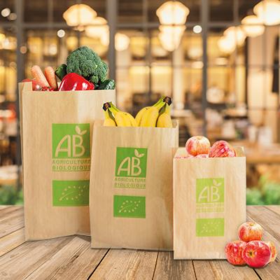 Sacs kraft fruits et légumes Bio