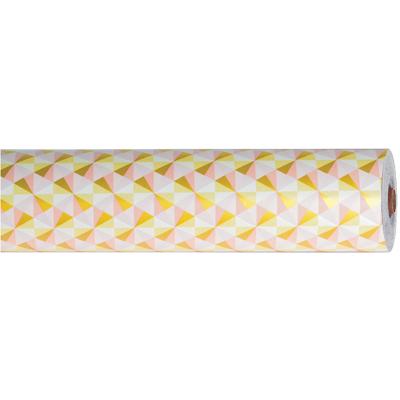 Papier cadeau à motifs géométriques