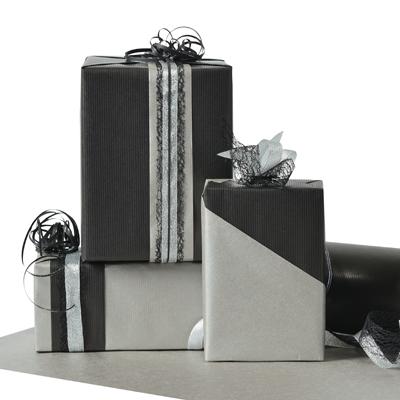Papier cadeau kraft bicolore