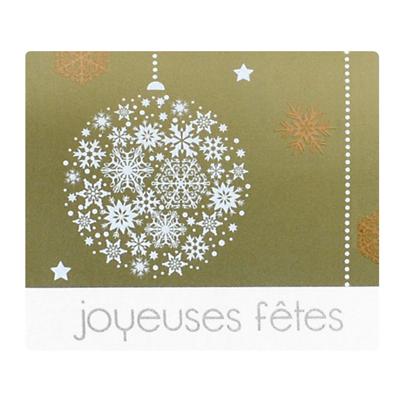 Étiquettes cadeaux adhésives Joyeuses Fêtes