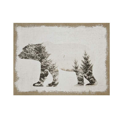 Toile tissu Ours