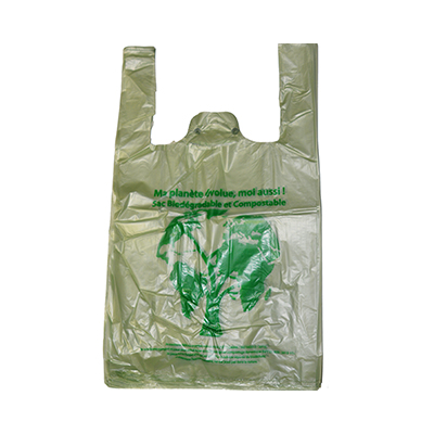 Sacs plastique biodégradables et compostables à bretelle