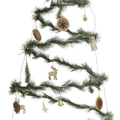 Sapin de Noel intérieur en spirale