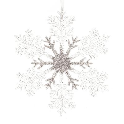 Suspension flocon de neige pailletté