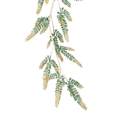 Guirlande feuilles pailletées