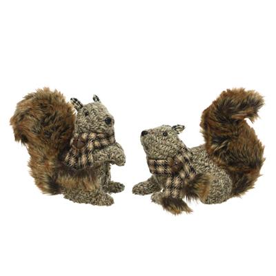 Écureuil avec écharpe et cloche