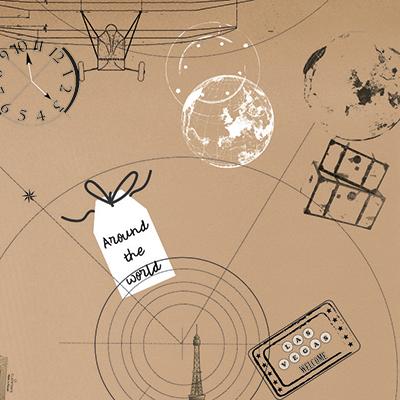 Papier cadeau Voyage