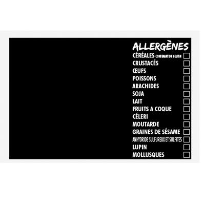 Étiquette ardoise Allergènes