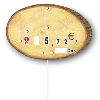 Étiquettes rondin de bois à roulettes