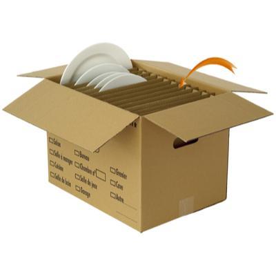 Séparations carton pour assiettes