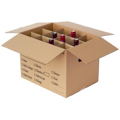 Croisillons carton pour bouteilles ou verres