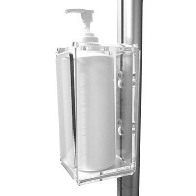 Porte-affiche 2 en 1 avec support pour distributeur de gel