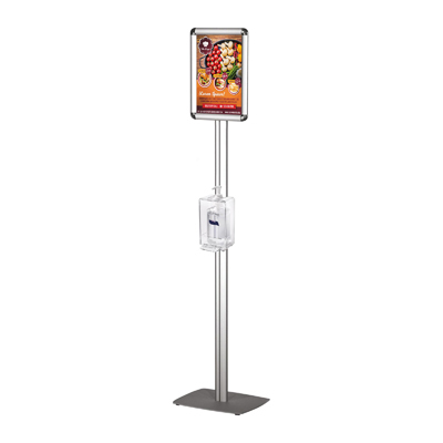 Porte-affiche avec support pour distributeur de gel