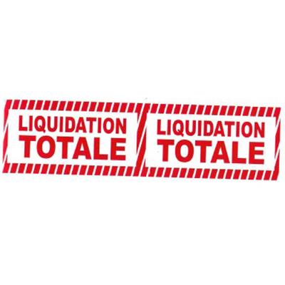 Banderole LIQUIDATION TOTALE