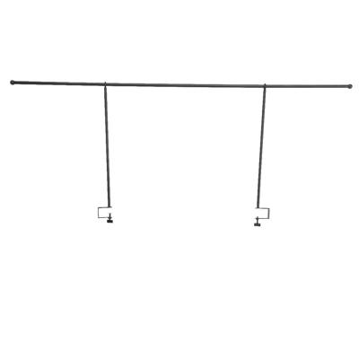 Barre de fer réglable pour déco à pinces