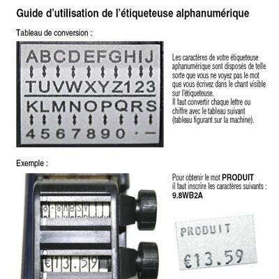 Étiqueteuse alphanumérique