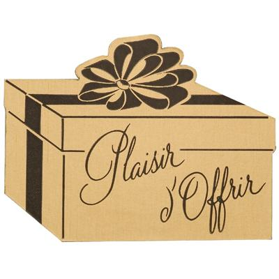Étiquettes cadeaux adhésives Plaisir d'offrir
