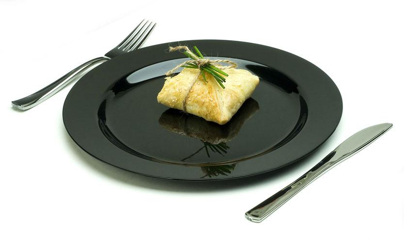 Assiettes Plastique Noir