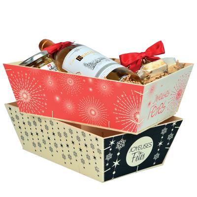 Cagettes bois Joyeuses fêtes