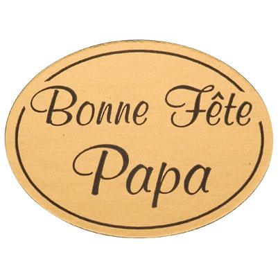 """Exceptionnel Étiquettes cadeaux adhésives """"Bonne fête papa"""" YG14"""