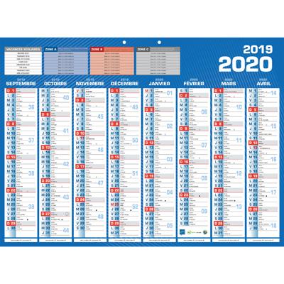 Calendrier classique 16 mois 2019-2020