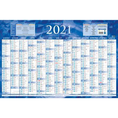 Calendrier 2021 - 1 face