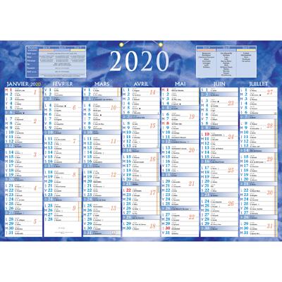 Calendrier 2 faces 2020