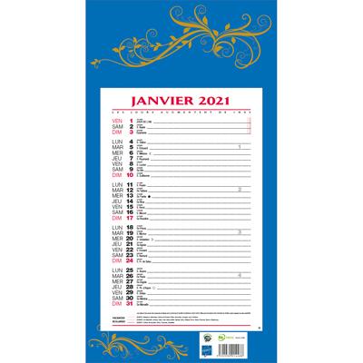 Calendrier mensuel 2021