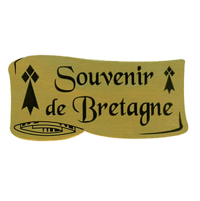Étiquettes cadeaux adhésives Souvenir de Bretagne