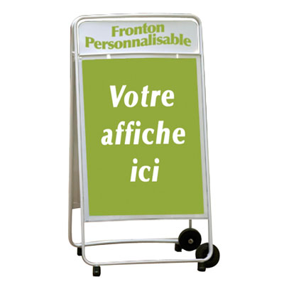 Chevalet porte-affiche repliable double face