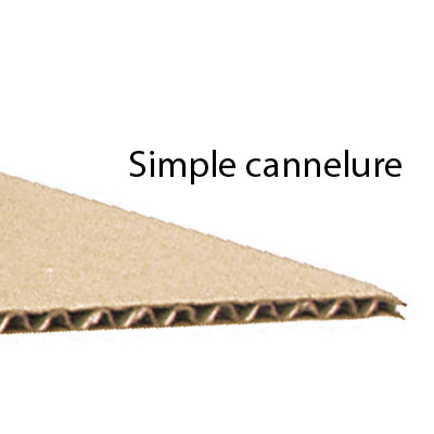Caisses américaines simple cannelure