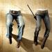 Jambes pliées femme