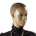 Mannequin femme afro, cheveux sculptés, mains sur les hanches