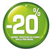 Etiquettes à trou rondes -20%