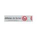 Plaque alu Défense de fumer