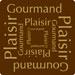 Étiquettes cadeaux adhésives Plaisir Gourmand