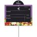 Étiquettes ardoise fruits et légumes, à pique