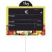 Étiquettes ardoises fruits et légumes, à pique