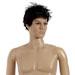 Mannequin homme sans perruque, main droite sur la hanche