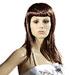 Perruque femme cheveux longs bruns avec frange