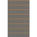 Panneau rainuré Anthracite, entraxe 15 cm