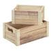 Lot de 2 caisses en bois pleines
