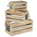 Lot de 3 caisses en bois ajourées