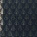 Papier cadeau noir sapins or/argent